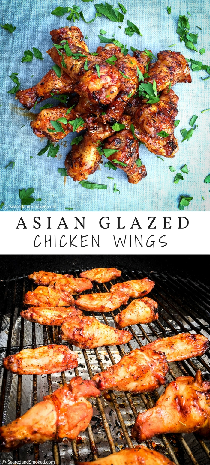 Asian Glazed Chicken Wings | Seared and Smoked