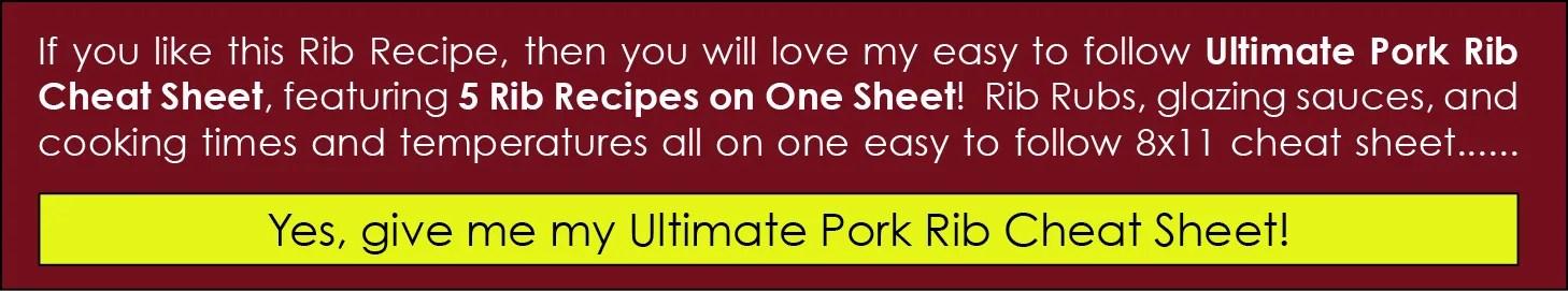 the ultimate rib cheat sheet