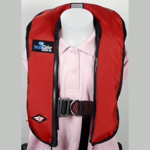 SeaSafe Systems Junior Automatic Life Jacket - Red