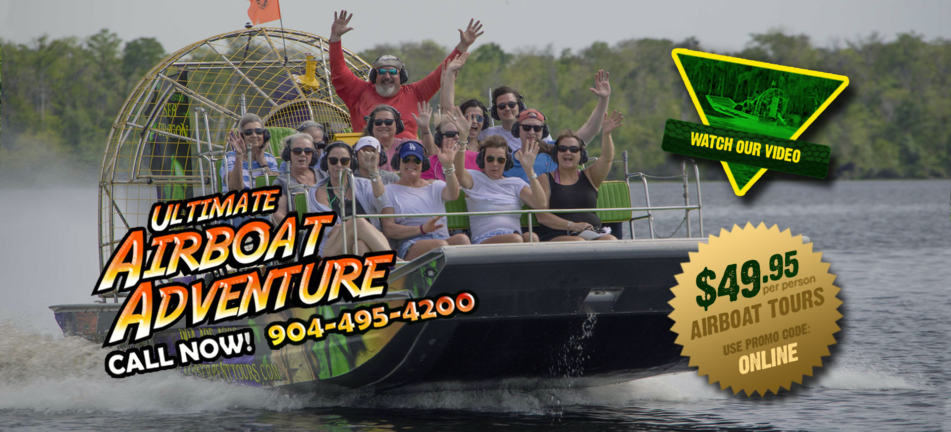 $49.95 Airboat Rides