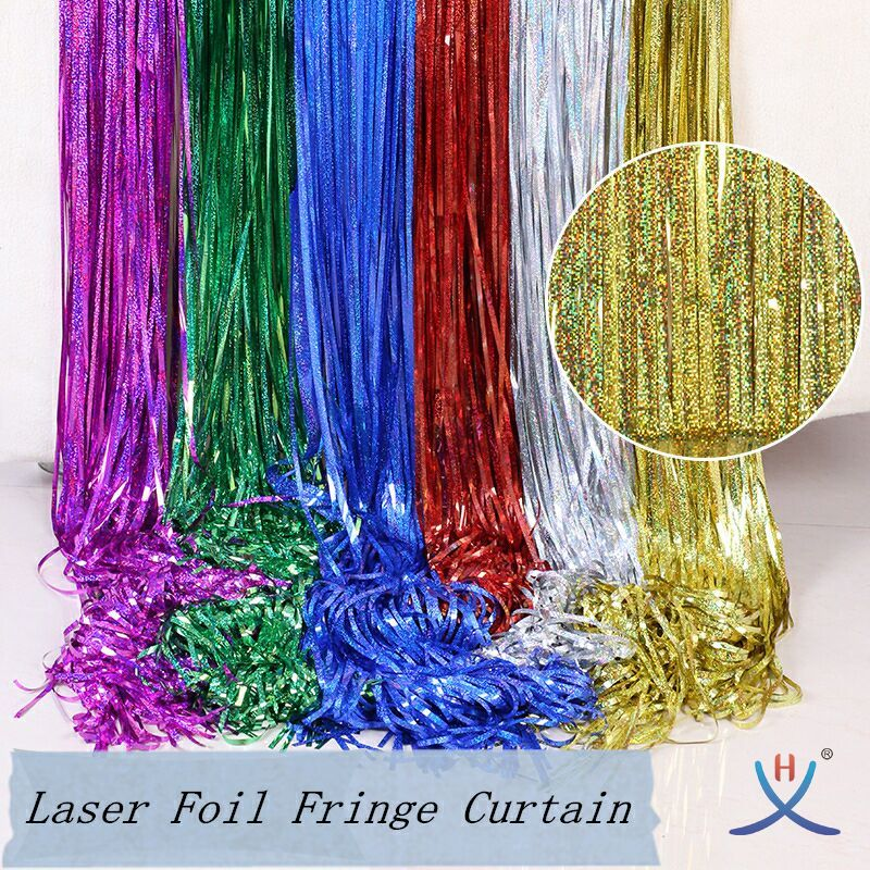 hexing laser holographic curtain foil