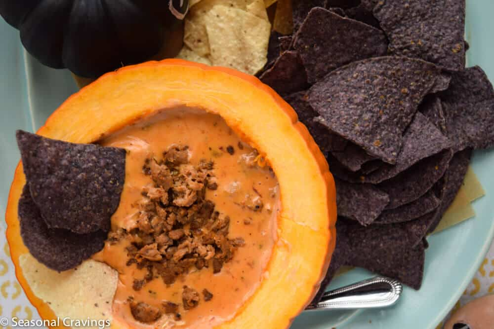 Queso Dip with Sausage | seasonalcravings.com