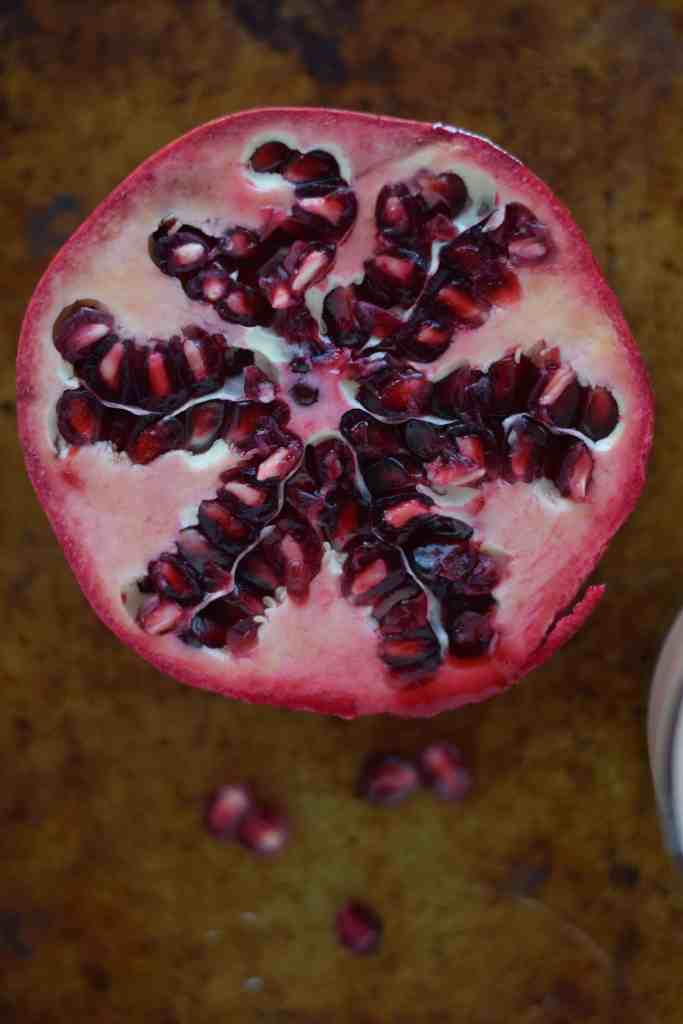 Pomegranate up close