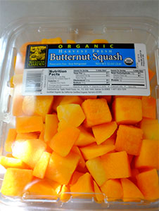 Peeled and cut butternut squash