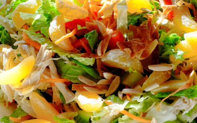 Asian Chicken Salad With Fresh Mandarin Orange —