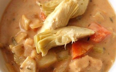 Parmesan Artichoke Soup —