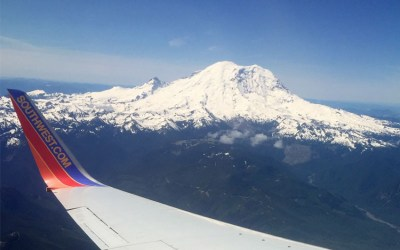 Mount Rainer on approach to Seattle