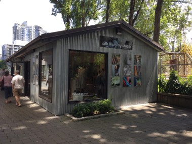 The Artisan silk weaving studio and gallery on Granville Island - I wanted one of everything.