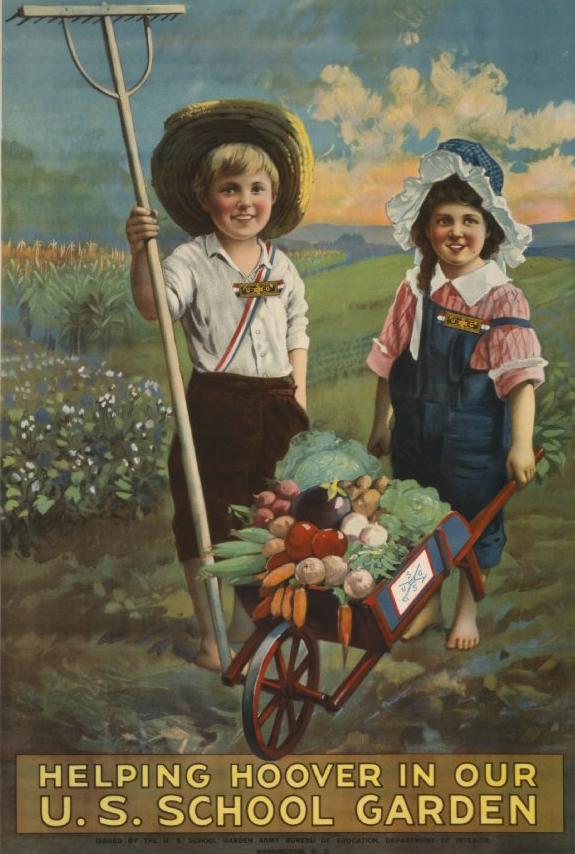 A vintage school garden poster