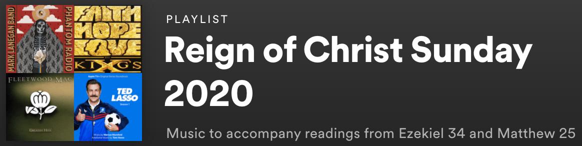 Reign of Christ Sunday 2020