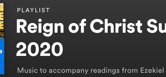 Reign of Christ Sunday 2020