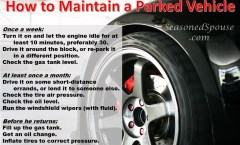 Maintain unused cars with these tips, useful for a military deployment. Www.seasonedspouse.com