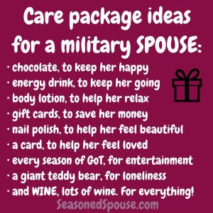 How can you support a military spouse during deployment? Try any of these great ideas!