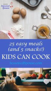 Here are some healthy easy meals kids can cook, even when they are too picky to eat anything else you make.