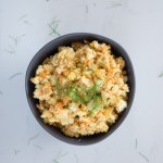 Easy Egg Salad with Roasted Fennel || An easy, fast, no mayo egg salad recipe with roasted fennel and carrots to get a few extra vegetables in this classic picnic dish. | SeasonedVegetable.com