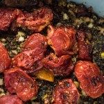 Quinoa Casserole | An easy quinoa casserole that's vegan and gluten free features summer zucchini and delicious, slow roasted tomatoes. | SeasonedVegetable.com