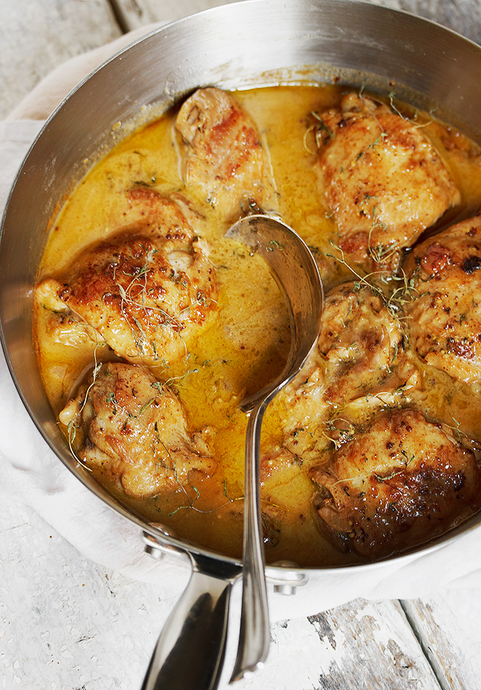 Chicken with Mustard - simple enough for weeknights, but special enough for company
