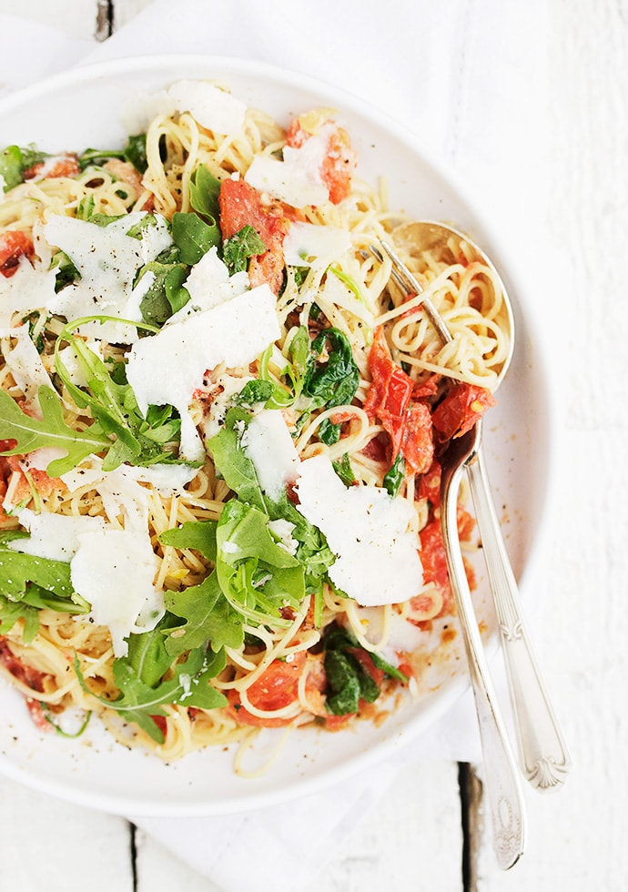 Blistered Tomatoes Pasta