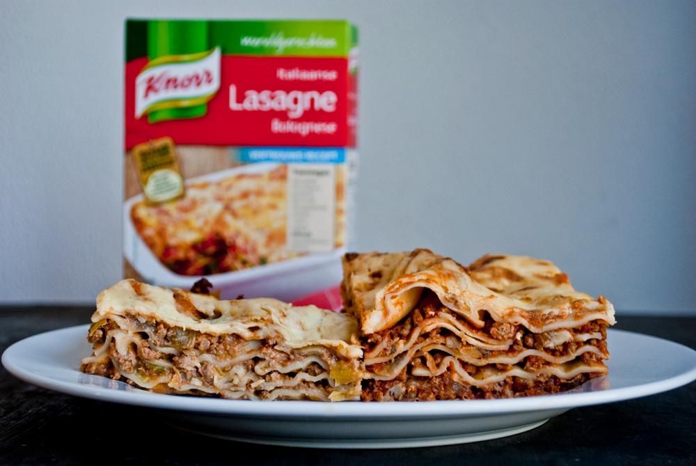 Vers of pakje knorr lasagne