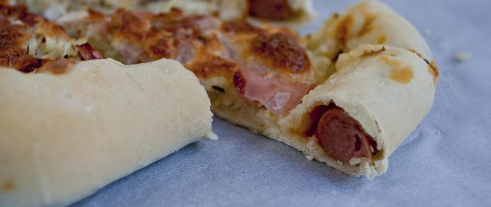 hotdog zuurkool pizza