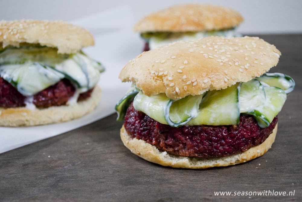 Bulgur rode bieten burger