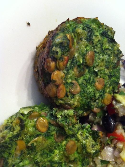 Lentil Spinach Cups (A Seat at the Table)