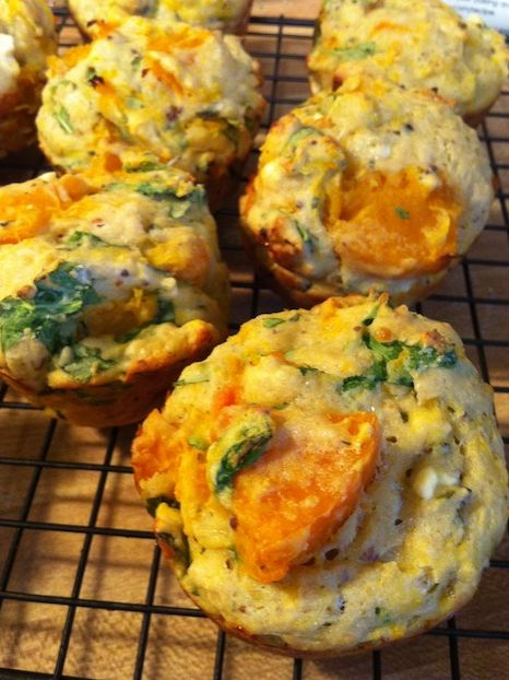 Butternut Squash and Feta Muffins (A Seat at the Table)