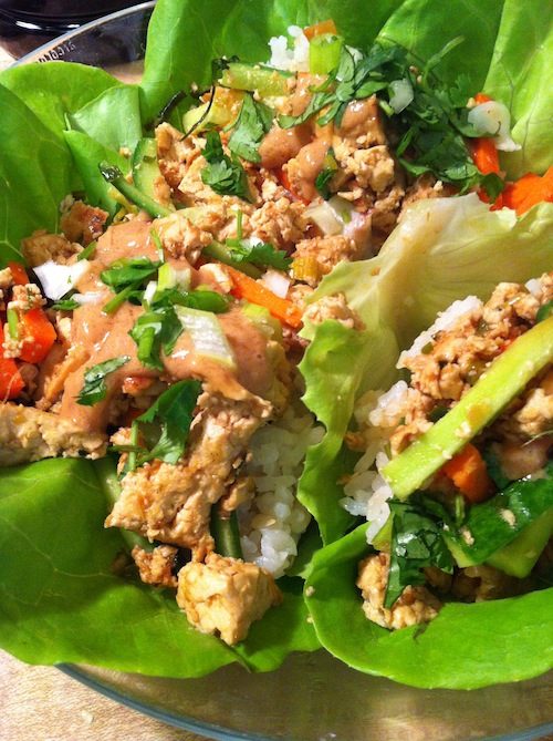 Tofu Lettuce Wraps with Hoisin-Peanut Sauce (A Seat at the Table)