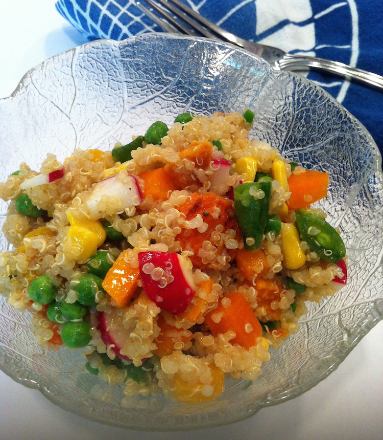 Confetti Quinoa Salad with Cumin-Lime Vinaigrette (A Seat at the Table)