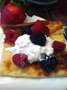 Finnish Oven Pancake with fresh berries and cream (A Seat at the Table)