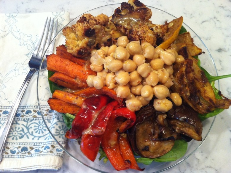 Moroccan Roasted Vegetable Salad with Chickpeas (A Seat at the Table)