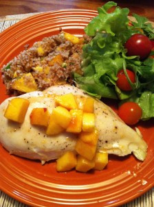 Peach Chicken with Peach Bulgur (A Seat at the Table)
