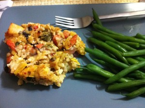 Roasted Vegetable and Rice Casserole with Chicken (A Seat at the Table)