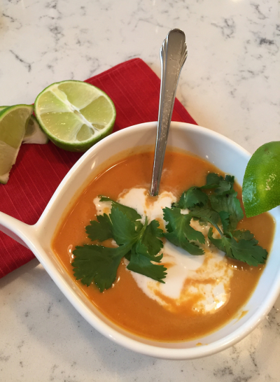 Thai Pumpkin Coconut Soup (A Seat at the Table)