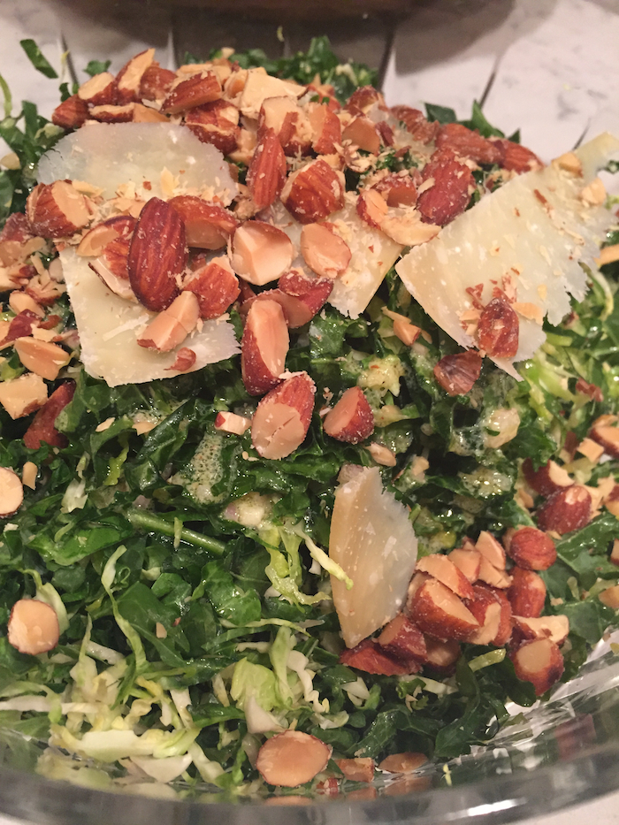 Kale and Brussels Sprout Salad (A Seat at the Table)