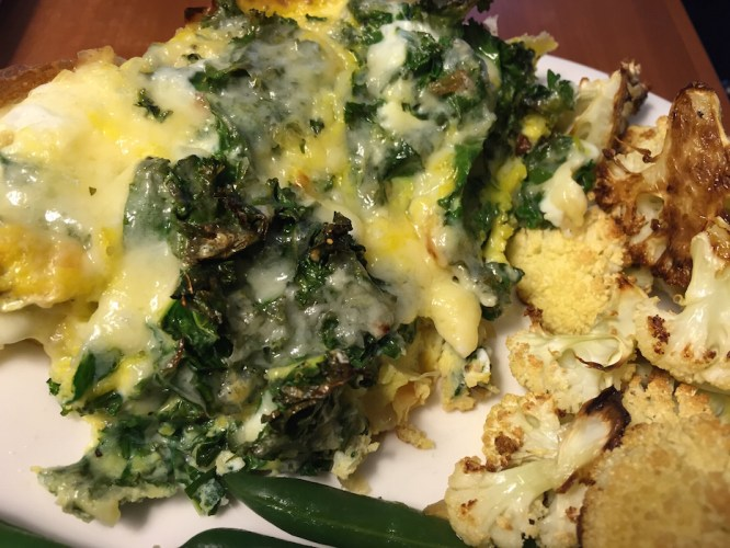 Kale and Cheddar Frittata (A Seat at the Table)