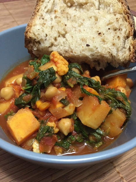 Cauliflower, Kale and Chickpea Stew