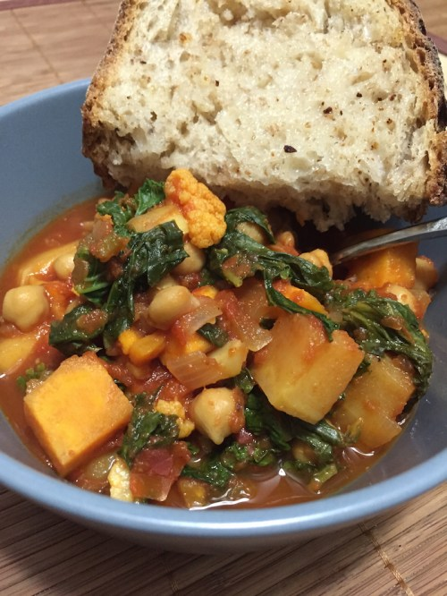 Cauliflower, Kale, and Chickpea Stew (A Seat at the Table)