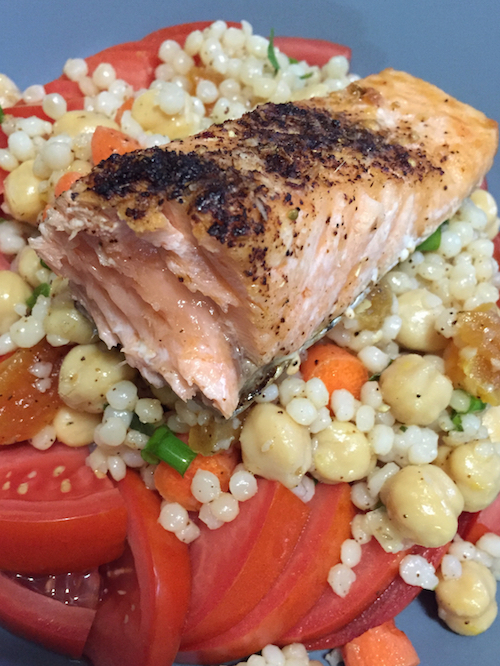 Salmon with Israeli Couscous Salad