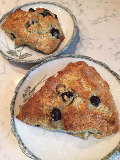 Blueberry Scones plated (A Seat at the Table)