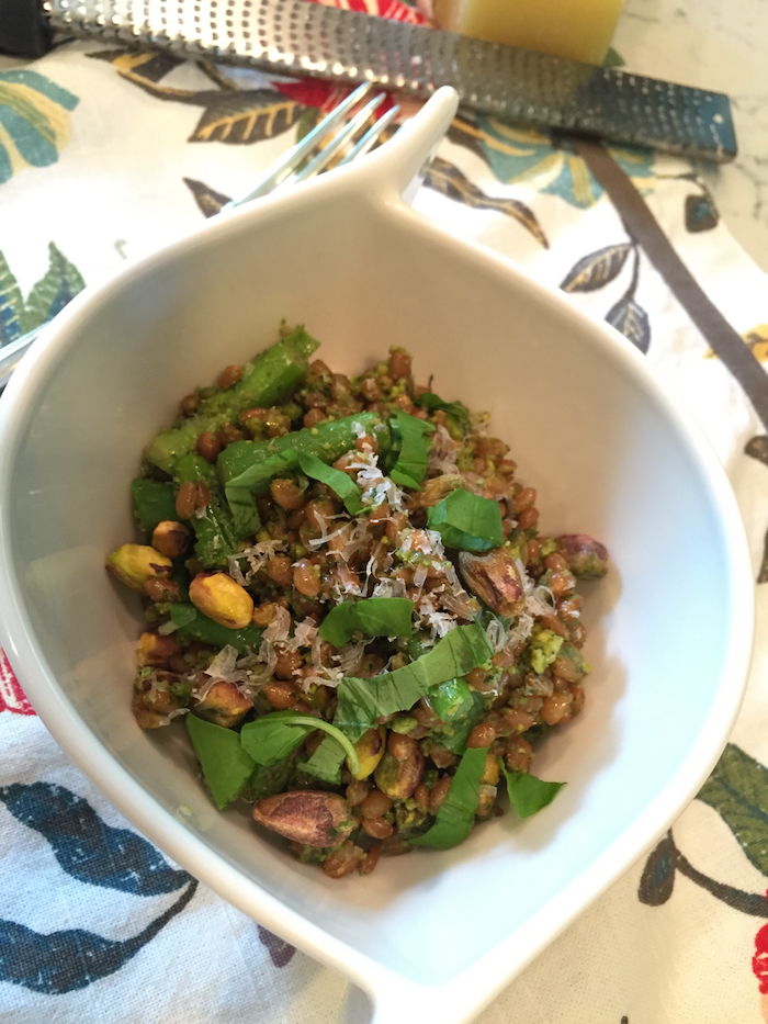Asparagus Wheat Berry Salad with Pesto (A Seat at the Table)