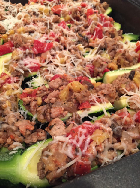 Italian Stuffed Zucchini Boats (A Seat at the Table)