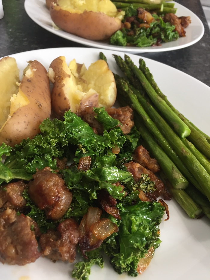 Sweet Sausage and Kale Sauté (A Seat at the Table)