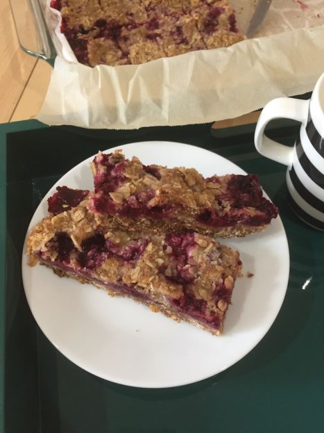Blackberry Breakfast Bars serving (A Seat at the Table)