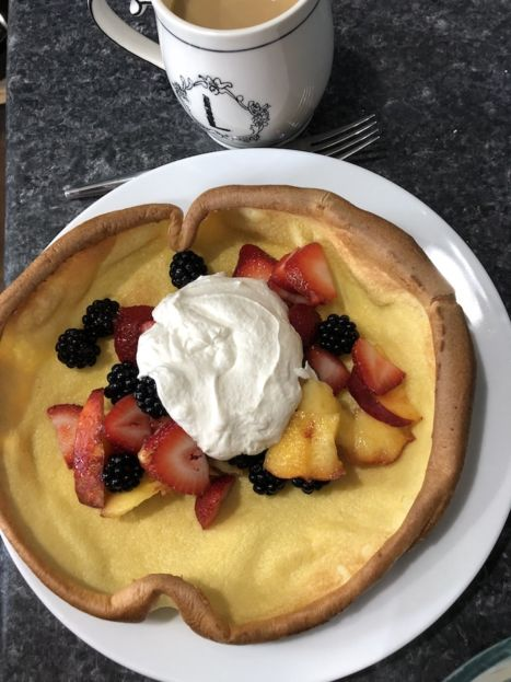 German Pancake with fruit (A Seat at the Table)