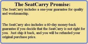 SeatCarry firearms holster warranty promise