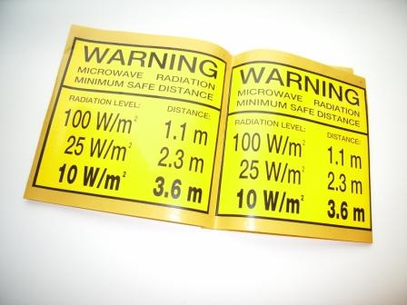 Kit Warning Label / F77