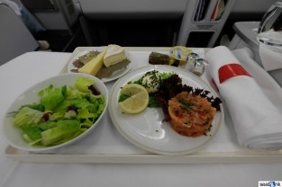 Air France business class meal
