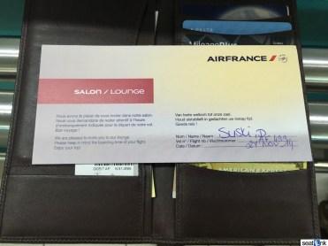 Air France SXM lounge invite