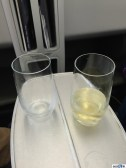 Champagne predeparture beverage in Air France business...not DP, but went down easy